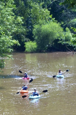 The Mill Creek Water Trail extends 21 miles from Cedar Lakes Conference Center to the Ohio River at Millwood.