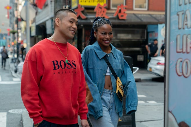 "Taylor Takahashi stars as Alfred 'Boogie' Chin and Taylour Paige as Eleanor in director Eddie Huang's ""Boogie."""