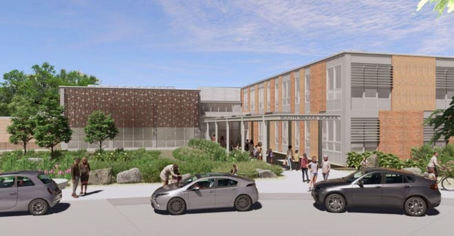 Renderings show plans for a new South Middle School in Braintree.