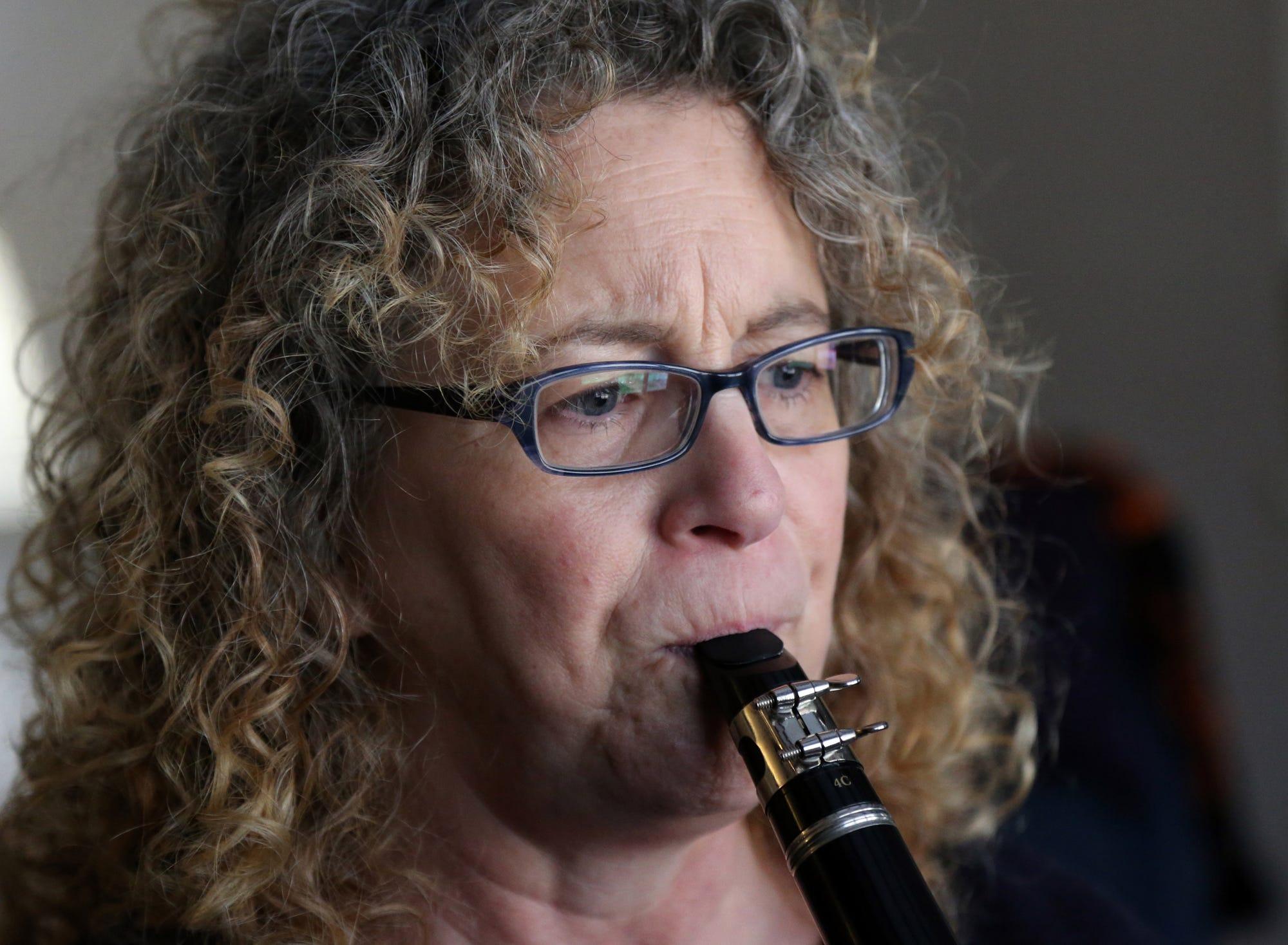 Sharon Morton, a member of the New Horizons Band