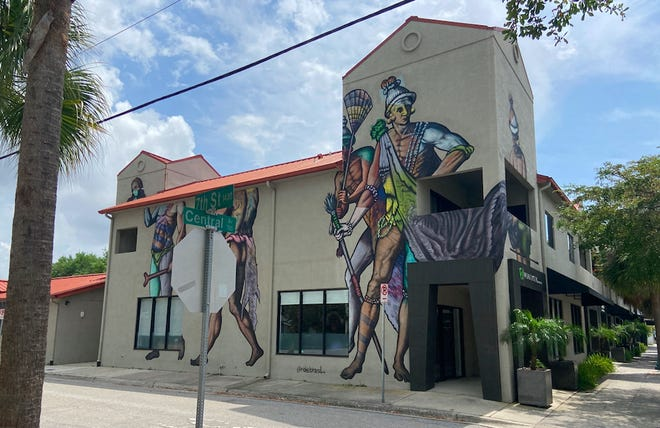 Rosemary Central, a mixed-use building at 650 Central Ave. in Sarasota, has a mural painted on its north side. The building sold for $3.8 million in February.