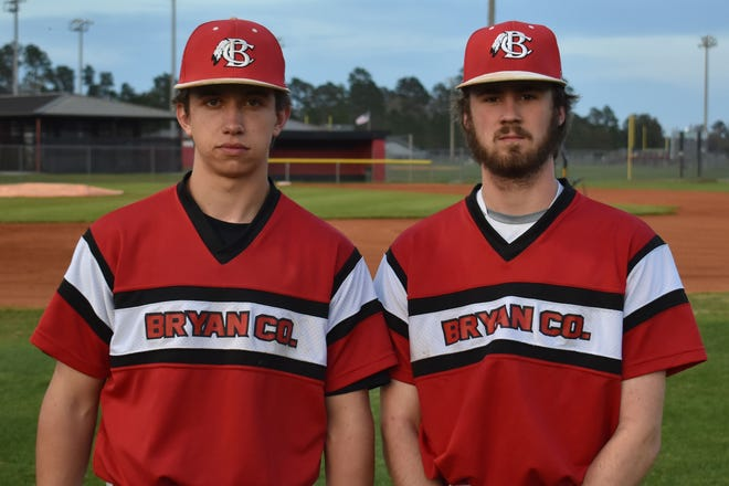 From left, Bryan County High School's Jeremiah Bowman and Logan Brazell.