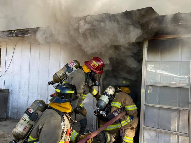 Firefighters took part in live fire training on Saturday in the Yreka area.