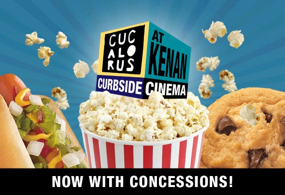 Concessions will be available at all Curbside Cinema beginning April 8 at Kenan Auditorium.