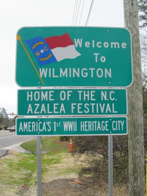 A World War II Heritage City entry sign has been installed in Wilmington.