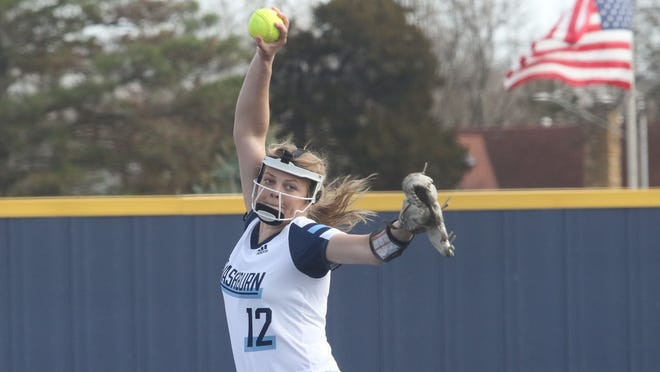 Washburn freshman Jaycee Ginter threw the first no-hitter for the Ichabod softball team since 2011 last Friday in a 2-0 win over Fort Hays State. Ginter, a Shawnee Heights product, is 9-1 on the season.