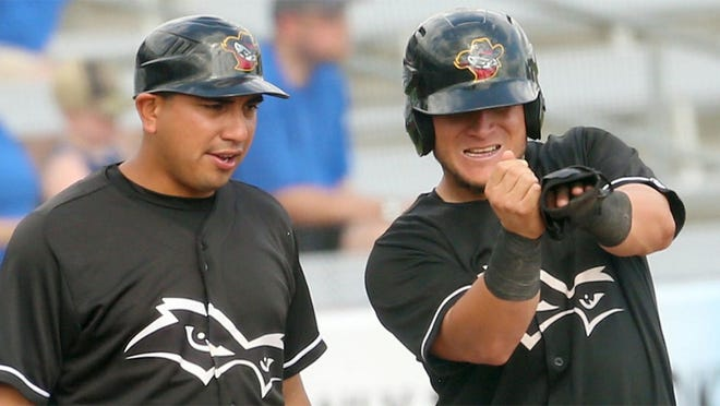 Ray Hernandez, left, comes to the Fayetteville Woodpeckers after a year managing the Quad Cities River Bandits.