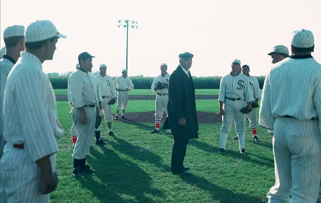 "Burt Lancaster, center, stars in ""Field of Dreams."""