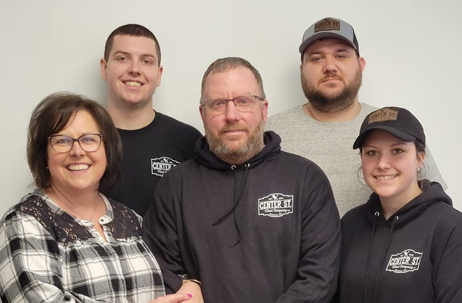 The Lohr family keeps busy with several business ventures. (L to R) Tonya Lohr, Jake Lohr, Andy Lohr, Mitch Alt and Jessica Alt.
