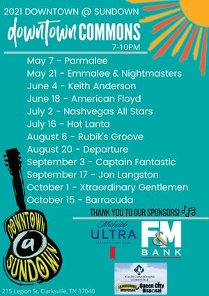 Live music returns to downtown Clarksville with the 2021 Downtown @ Sundown Concert Series!