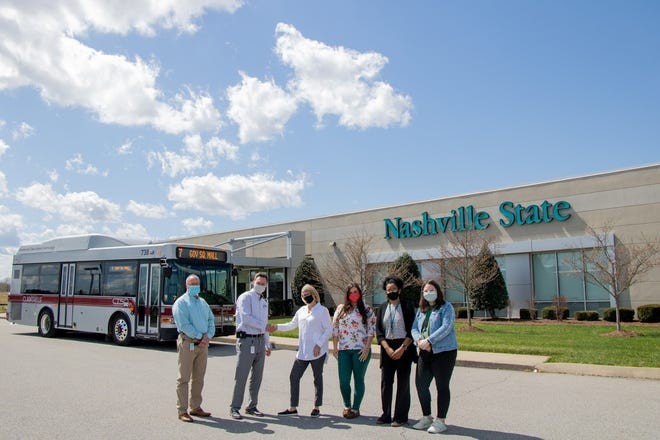 Pictured left to right: Scott Audet, CTS Operations Supervisor; Paul Nelson, CTS Director; Kathleen Akers, Associate Dean/Director of the Clarksville Campus; Alissa Thacker, Admissions Clerk; Dyamond Williams, Financial Aid Clerk; Jessica Luna, Student Services Specialist II