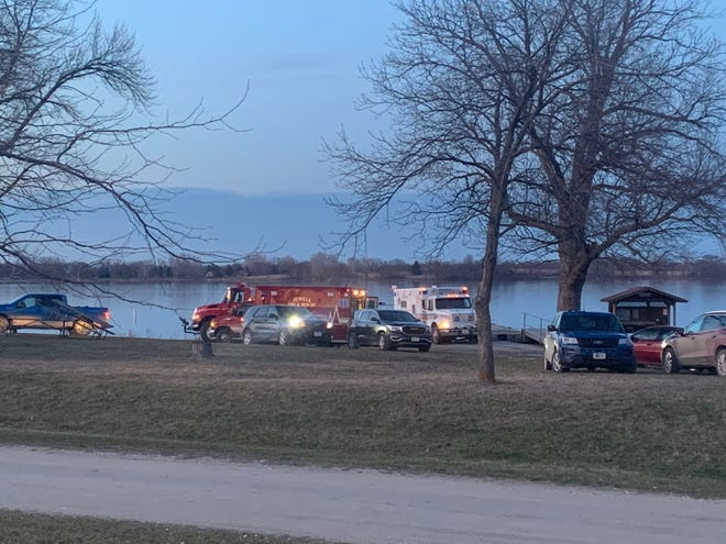 Responders and search crews remained at Little Wall Lake Sunday evening after five members of the Iowa State Crew Club were involved in a boating accident at Little Wall Lake on Sunday morning, March 28, 2021.