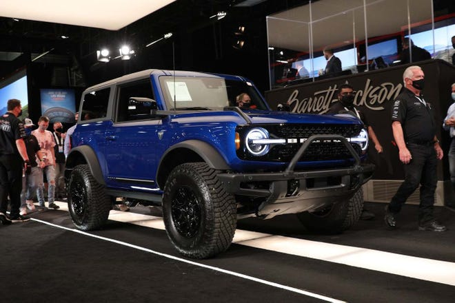 VIN 001 of the 2021 Ford Bronco First Edition auctioned for $1.1 million.