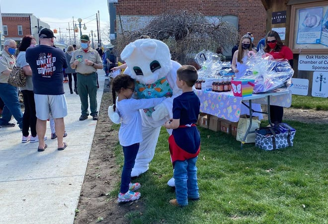 The Oak Harbor Chamber of Commerce held its annual egg hunt complete with Easter Bunny on March 27.