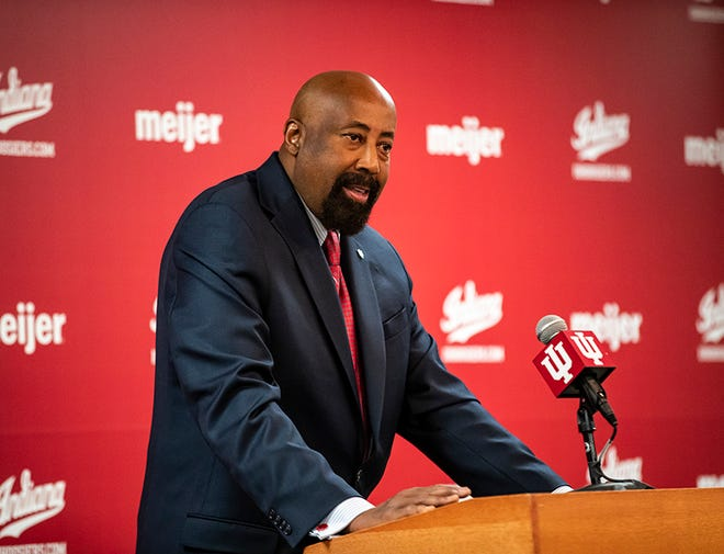 BLOOMINGTON, IN - MARCH 29, 2021 - Head Coach Mike Woodson of the Indiana Hoosiers during a press conference in Bloomington, IN. Photo by Missy Minear/Indiana Athletics