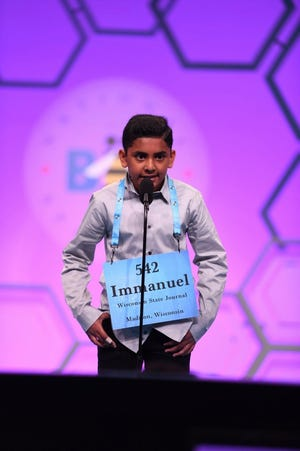Immanuel Goveas, the co-champion in this year's Badger State Spelling Bee, advanced to the Scripps National Spelling Bee. He has appeared in the national competition two previous times.