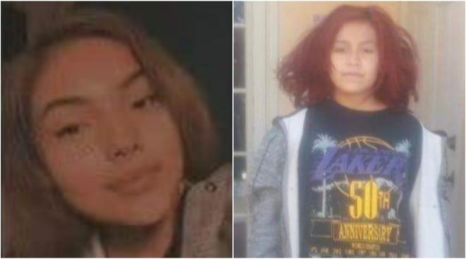 Zuriah Castillo, left, and Jaylynn Miller.