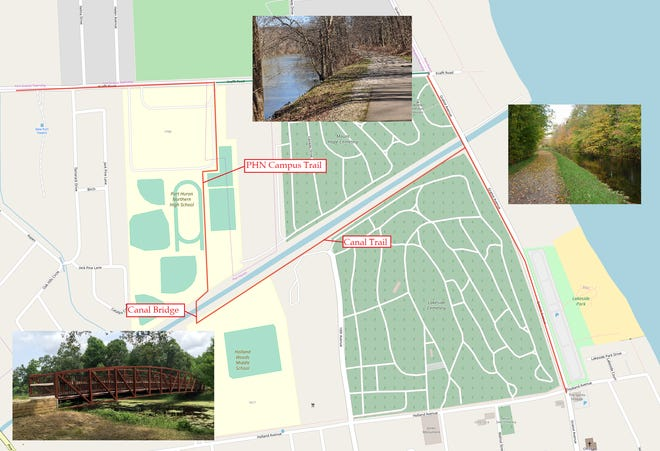 Port Huron Area School District and the city of Port Huron are finalizing plans for trails that will connect Port Huron Northern High School to Holland Woods Middle School along the Black River Canal.
