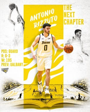 Former Northeastern High guard Antonio Rizzuto announced Sunday he will transfer to Towson University after three seasons at the University at Albany.