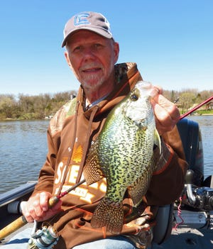 Fishing for early spring panfish is very popular with area anglers.