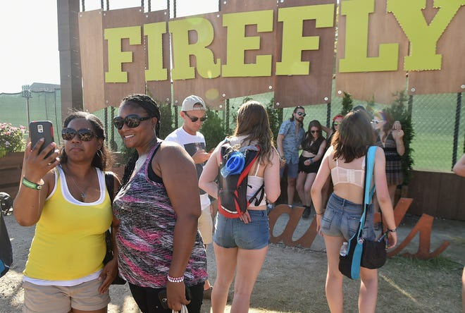 Festival-goers take a selfie at Firefly Music Festival on June 18, 2016 in Dover. The festival will return this fall to The Woodlands.
