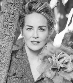 """Sharon Stone in the author photo of """"The Beauty of Living Twice."""" Stone says she might write another book someday. """"When Shirley MacLaine started writing her books, everybody thought she was so kooky. And now, you know, the things that she's written are so normal to us,"""" says Stone."""