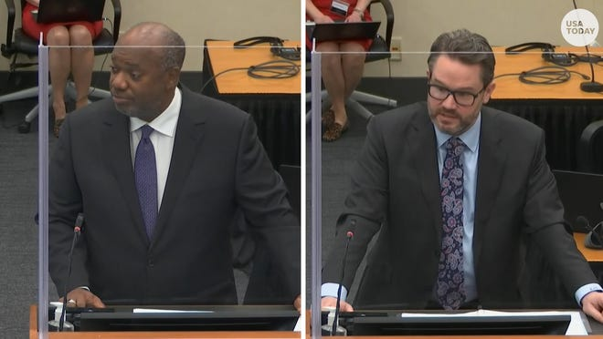 Opening statements began in the trial of former Minneapolis police officer Derek Chauvin, who is charged in George Floyd's death: Jerry Blackwell, for the prosecution, and Eric Nelson for Chauvin's defense.