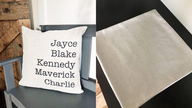Best Mother's Day gifts: Personalized Family Names Throw Pillow
