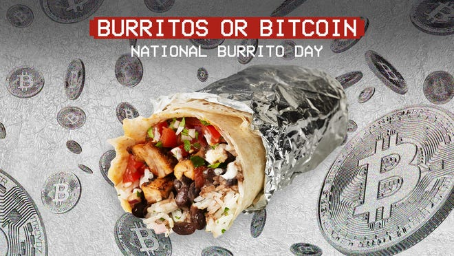 Chipotle is giving away $100,000 in free burritos and $100,000 in Bitcoin to celebrate National Burrito Day 2021.