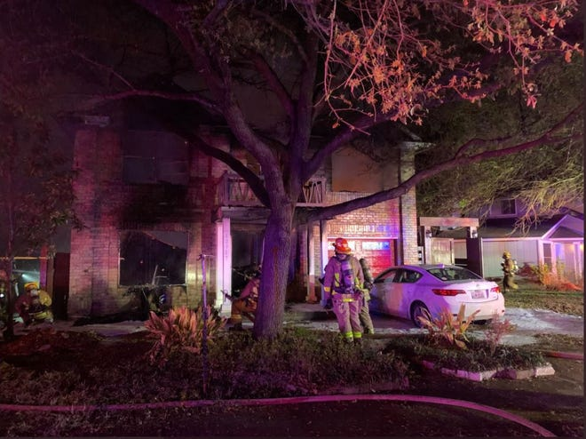 Austin firefighters on March 30, 2021 responded to a house fire in the 10700 block of Arikara River Drive. [AUSTIN FIRE DEPARTMENT]