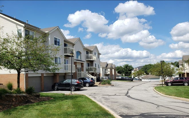 Pictured is part of the 150-unit Brookledge Commons residential development off Buckingham Gate Boulevard.