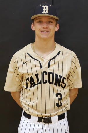 Coleman Junell, Bushland pitcher, poses for a headshot.