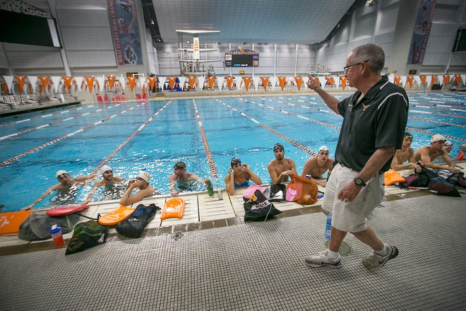 """Texas men's swimming coach Eddie Reese, who announced his retirement on Monday, won 15 national titles in 43 seasons at UT. """"He's the best,"""" former UT athletic director DeLoss Dodds said. """"There's a best in every line of work, and he's the best in his line of work."""""""