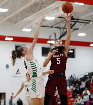 Senior Emma Shumate of Newark was one of two Central District girls basketball players to be named first-team all-Ohio.