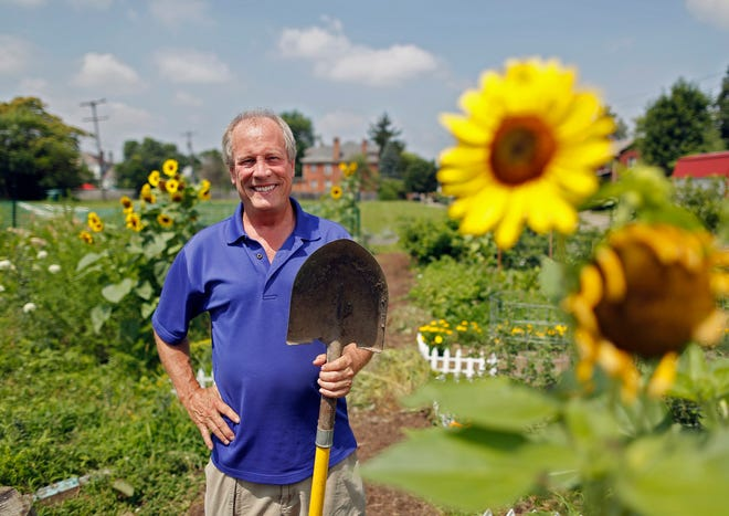 Michael Doody, who started the Kossuth Street Garden, in 2017. The garden is going to be displaced by 10 new homes.