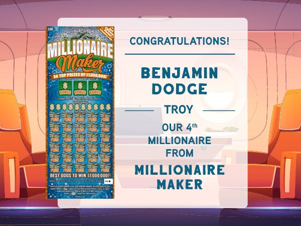 Benjamin Dodge takes home over $400,000 after winning $1 million.