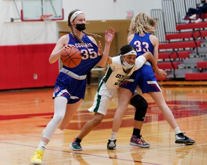 Lenawee Christian's Bree Salenbien handles the ball during Monday's Division 3 regional semifinal against Ypsilanti Arbor Prep at Whitmore Lake.