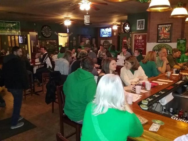 Revelers gather on St. Patrick's Day 2017 at The Fox Pub & Cafe in Peoria.