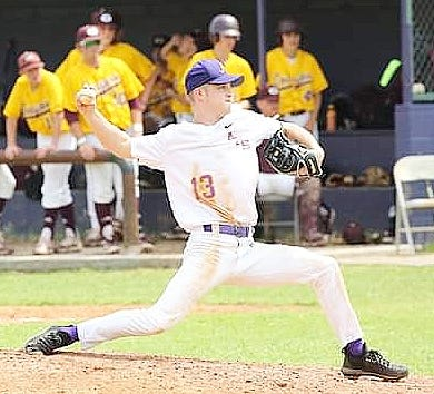 Anacoco senior Zack Benevage struck out five batters in a complete-game victory over the Grant Cougars on Saturday, 10-6.