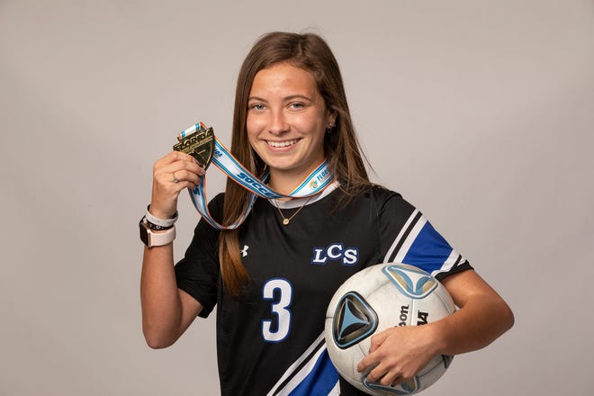 Lakeland Christian senior Katie Carnes led the VIkings in scoring and helped lead them to their first state title. She also was named the Dairy Farmers Class 3A player of the year.