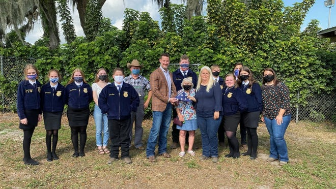 Representative Greg Steube (R-Fla.) recognized Michele Parmer, a teacher at Bartow Middle School, as the FL-17 MVP for March 2021 due to her dedication to educating students through their Future Farmers of America (FFA) chapter.