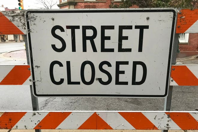 E. Third St. in the City of Monroe is closed at S. Monroe St. (M-125) due to a natural gas leak caused by a contractor working underground Tuesday morning.