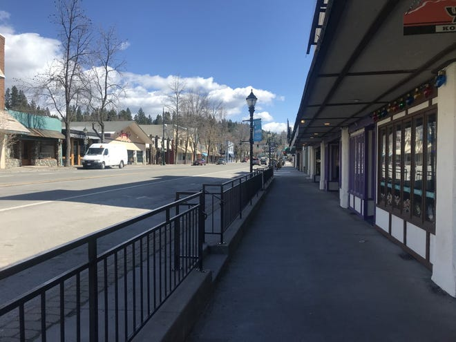 Mt. Shasta Boulevard appeared eerily abandoned on March 26, 2020, when the COVID-19 pandemic first struck in Siskiyou County.