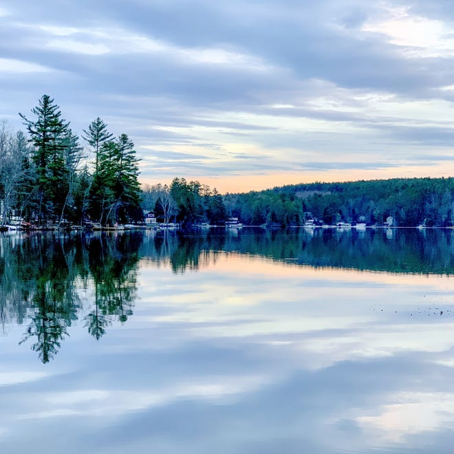 """""""First Light,"""" photo on glass by Sue Kim Lucchini."""