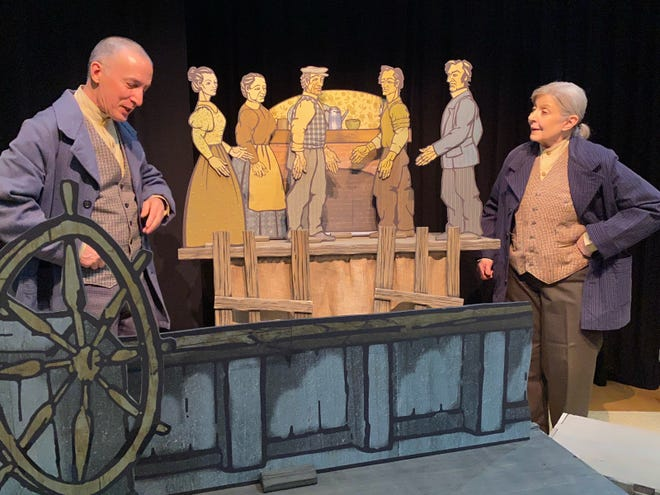 """Pontine Theatre Co-Artistic Directors Greg Gathers and Marguerite Mathews perform """"The Green Shay,"""" which will be broadcast virtually April 9-11."""