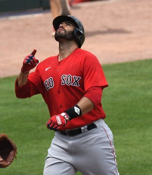 The Red Sox are hoping  J.D. Martinez does not test positive for COVID-19 and returns to the lineup quickly.