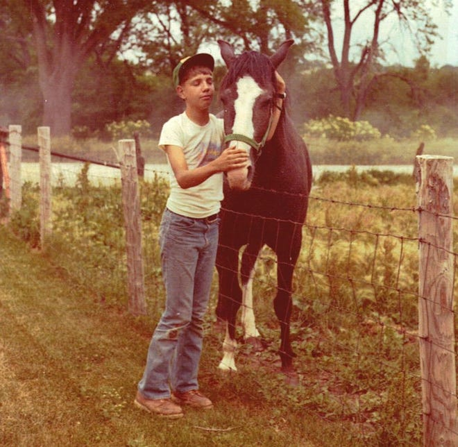 A young Scott Reeder and his horse, Ramona, named after the popular Beverly Cleary character.