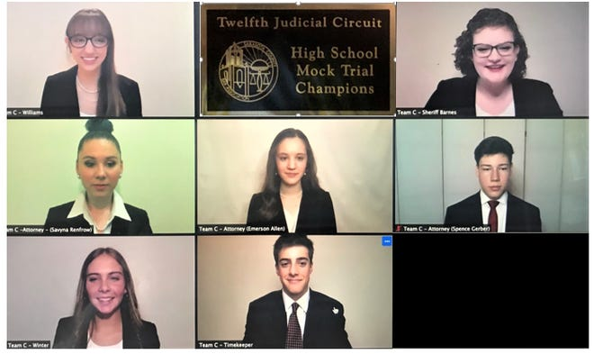 Invictus Advocacy Academy won the Florida Southern CollegeHigh School Mock Trial Competitionfor the third year in a row.