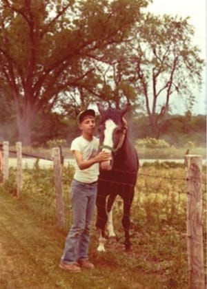 A young Scott Reeder and his horse Ramona, named after the popular Beverly Cleary character.