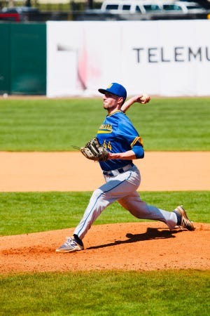 Worcester State right-hander Sean Mahan, shown in a 2019 game, was named MASCAC Pitcher of the Week.